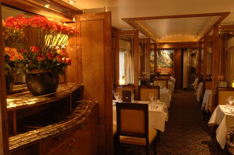 blue train dining room