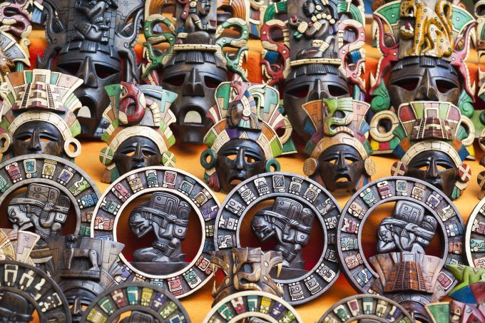 south america mexico maya masks